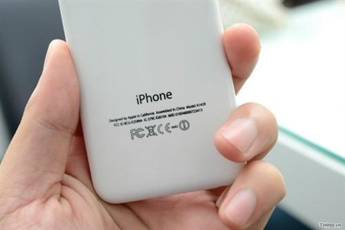 iPhone 5C mockup back plate.