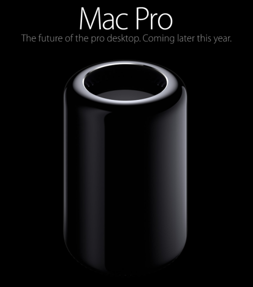 Apple shows the first ad for the new Mac Pro, with a Fall 2013 release teaser at the end.