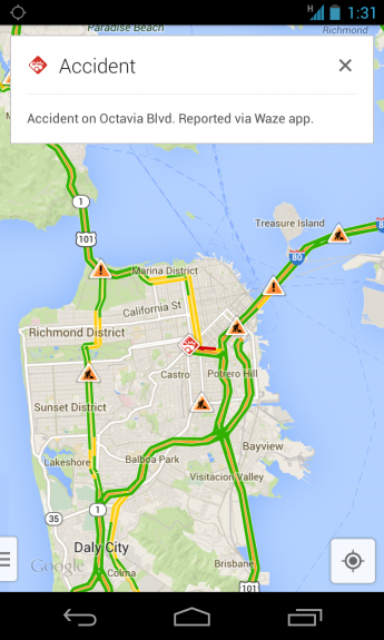 Waze information is now integrated into Google Maps.