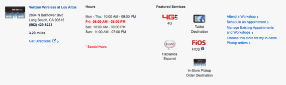 Verizon stores will open early on Friday for iPhone 5S buyers.