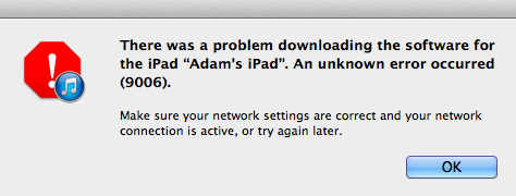 There were errors galore when installing iOS 7 for iPad.