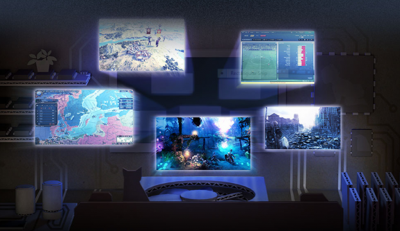 Screenshots of Valve's new gaming operating system, Steam OS.