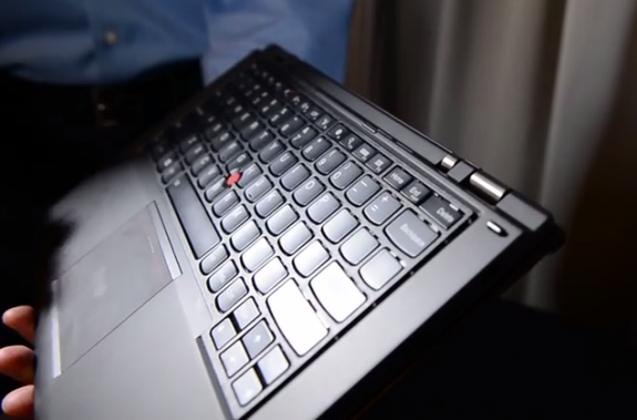 The Lift n' Lock keyboard on the ThinkPad Yoga.