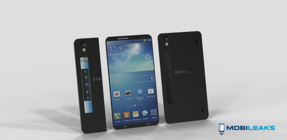 This Galaxy S5 concept features a flexible design.