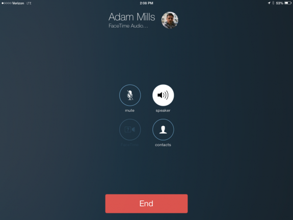 Make crystal clear calls from the iPad mini on iOS 7 with FaceTime Audio.