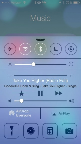 Control Center is a flagship new iOS 7 feature.