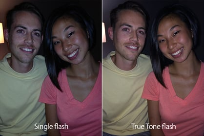 Sample showing the benefit of the iPhone 5S' True Tone flash.