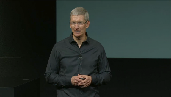 Apple CEO Tim Cook at today's Apple Special Event