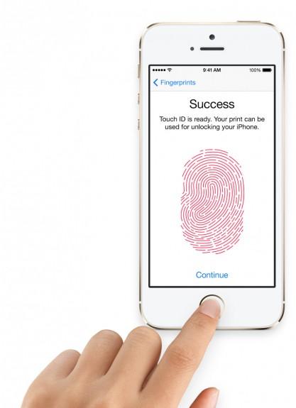 The iPhone 5S fingerprint sensor secures the iPhone with your fingerprint.