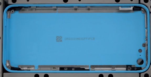 The iPhone 5C features a steel band and a steel back for a more premium feel.