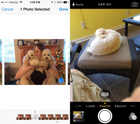 Take 10 photos per second with the iPhone 5s.