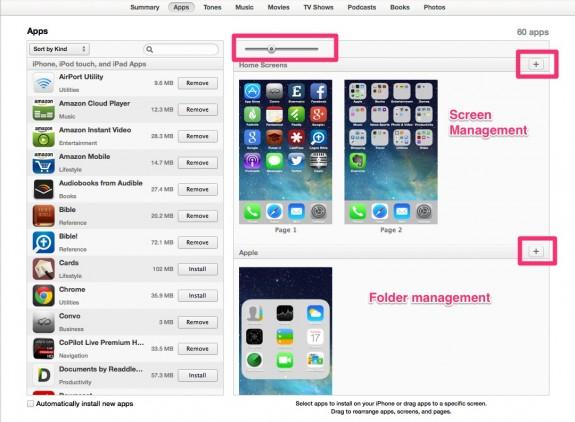 itunes11.1 offers better app management