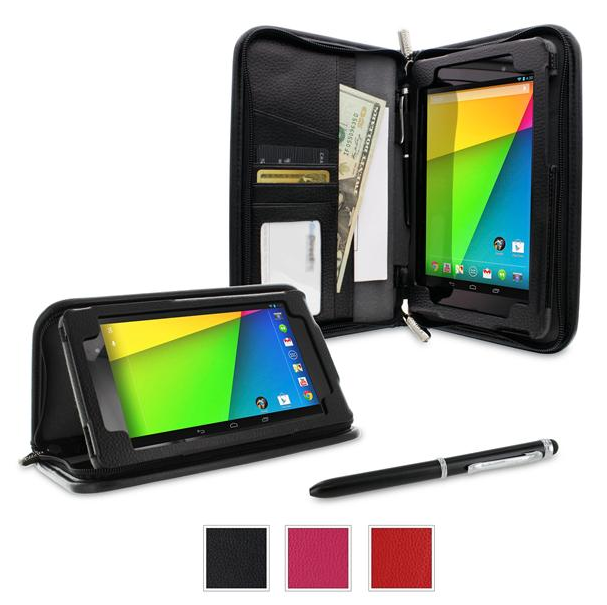 Roocase Executive Portfolio Leather Case Cover with Stylus