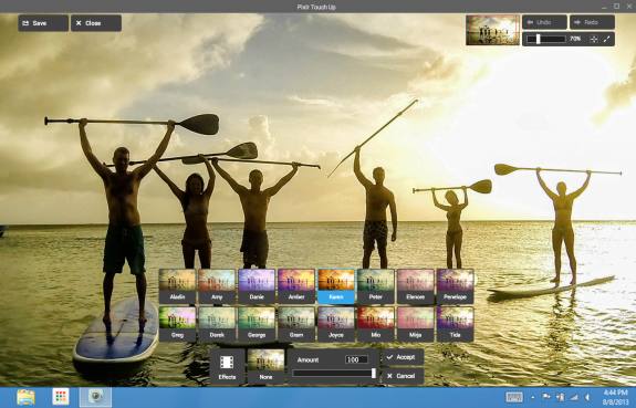 The Pixlr Touch Up image editor uses Chrome App's new technologies.