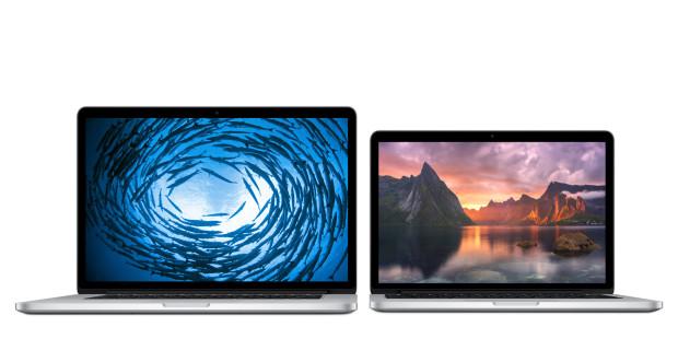 15-inch MBPr vs. 13-inch MBPr displays.