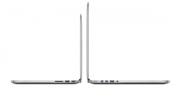The 13-inch MacBook Pro Retina is more portable than the 15-inch MacBook Pro Retina (Late 2013).