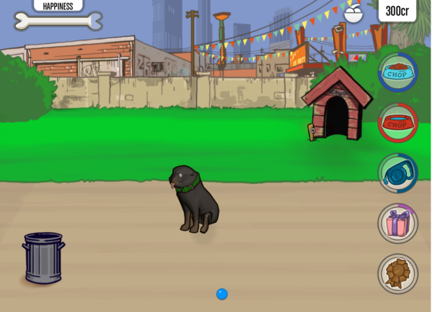 play with Chop the dog via the iFruit Android app.