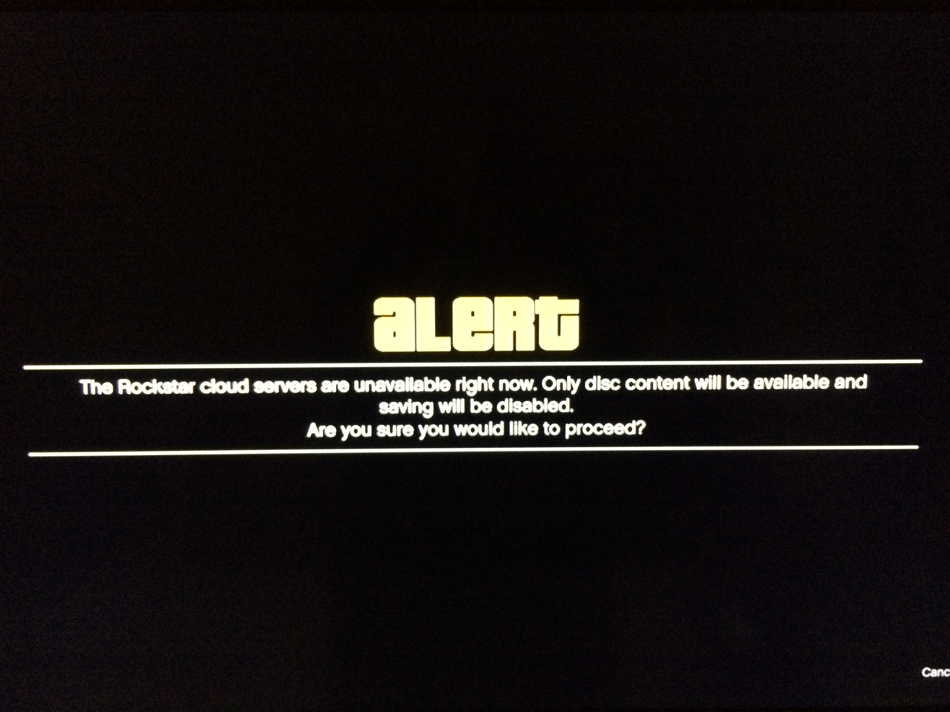 "GTA Online problems, like this one telling gamers ""The Rockstar cloud servers are unavailable right now."" are hampering the GTA Online release."
