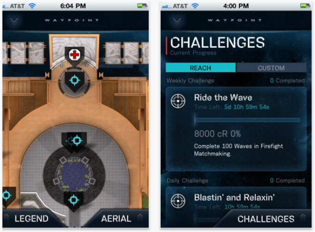 Halo Waypoint allows users to track their place in Halo 4 multiplayer.