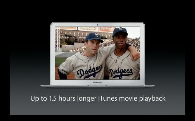OS X Mavericks brings better battery life to HD video playback.