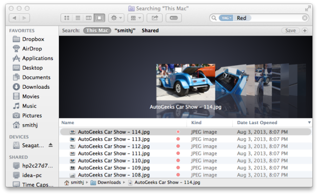 Use Finder Tags in OS X Mavericks for easier organization.