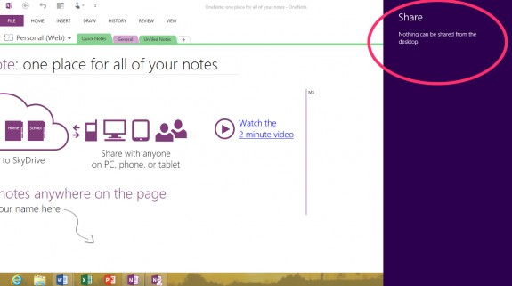 On the Original Surface ET you could not Share things from Desktop