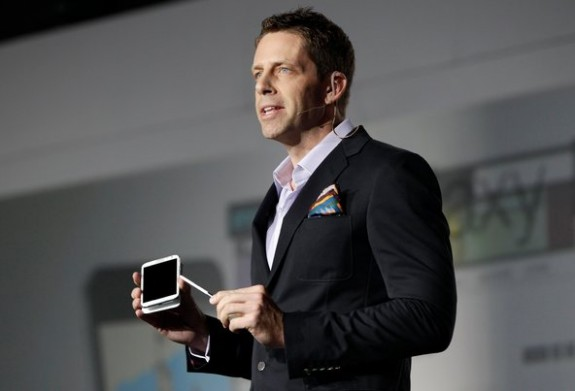 Kevin Packingham unveiling the Samsung Galaxy Note 11, care of Shannon Stapleton and Reuters.