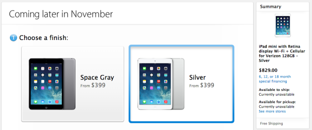 The Apple Store is ready to handle iPad mini with Retina Display orders, but this new leak is unconfirmed.