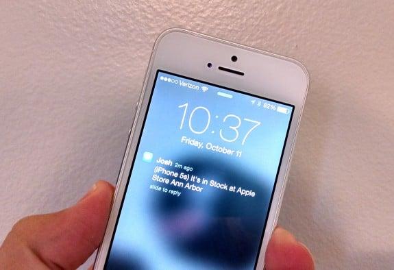 iPhone 5s in stock text alert