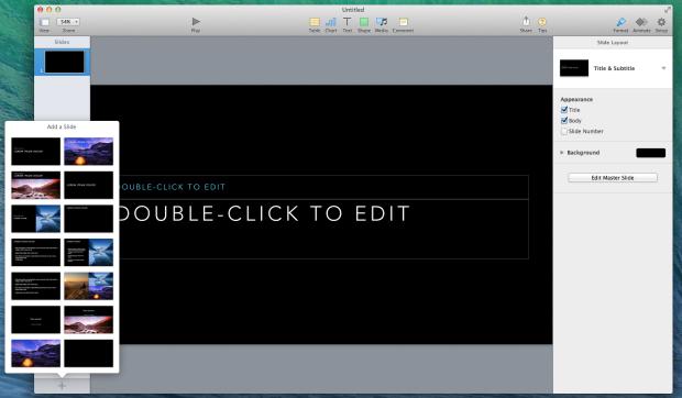 keynote new slide