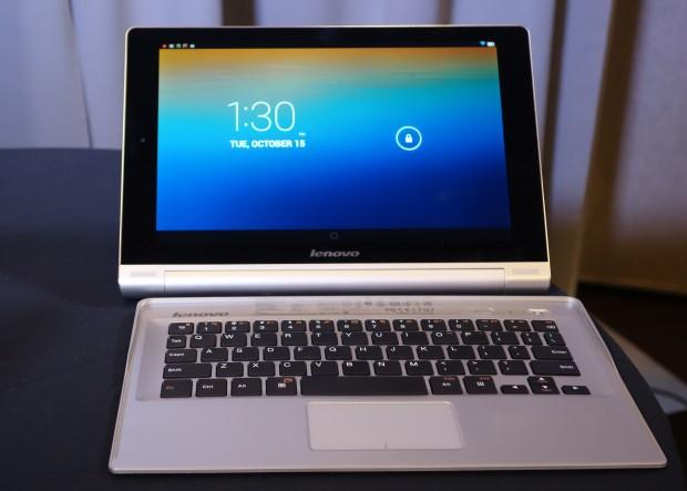 The Yoga Tablet 10 Bluetooth keyboard case.