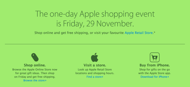 The Apple Black Friday 2013 event is confirmed, but it's not where you'll find the best Black Friday deals.