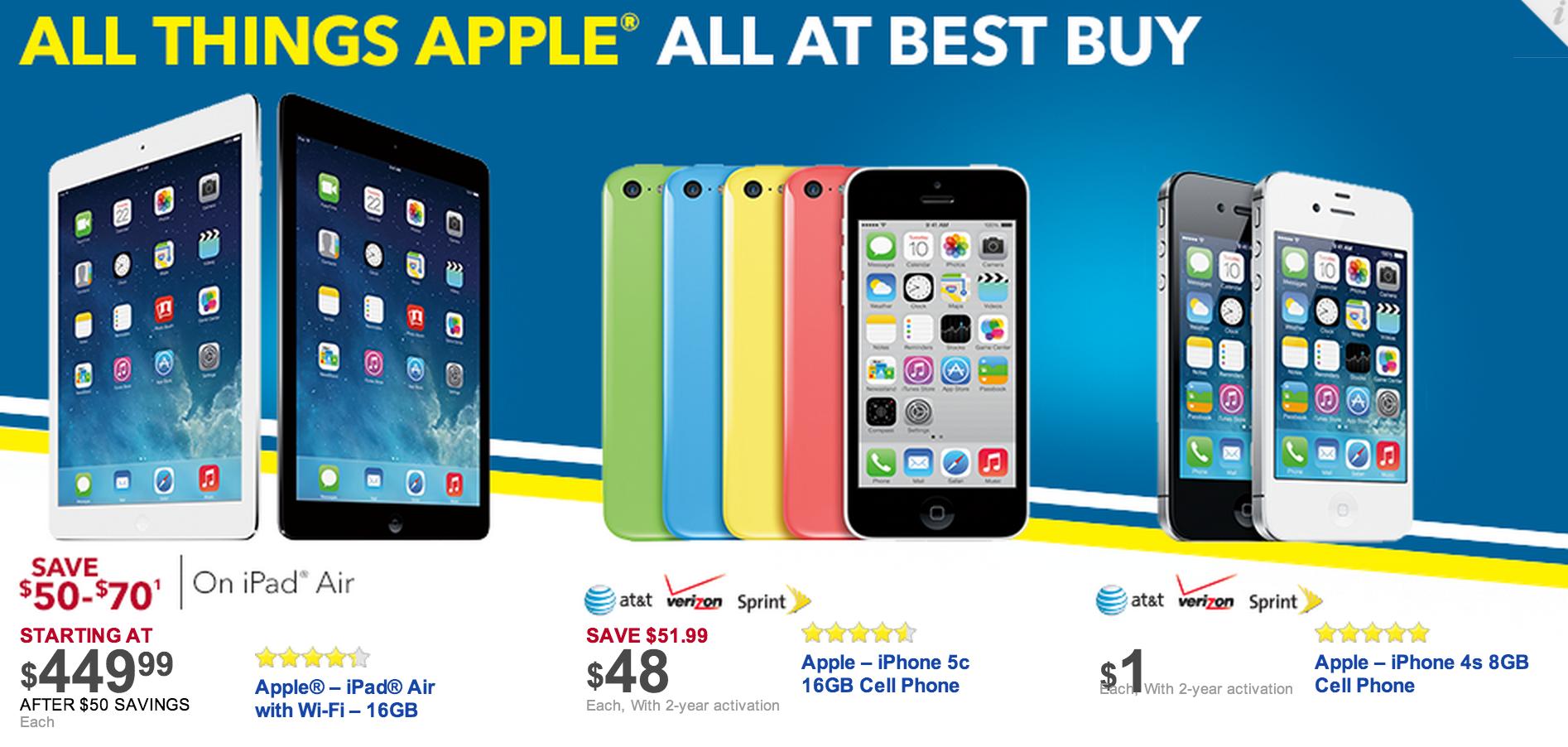 Best Buy Black Friday Apple Deals Ipads Ipods Macbook Pro Retina More