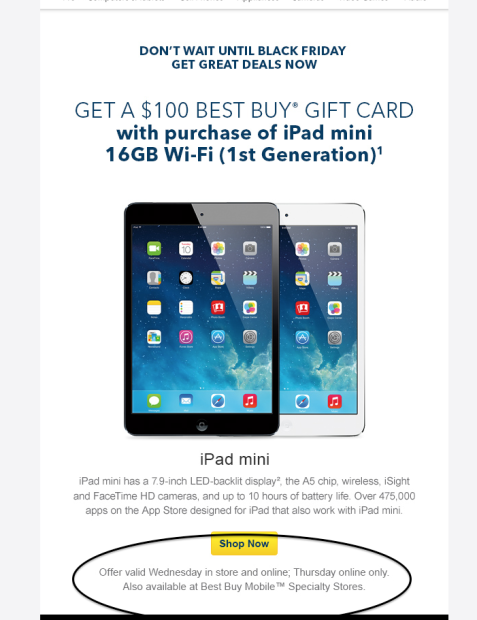 The Best Buy Black Friday deals are live with a $100 gift card with the purchase of an iPad mini.