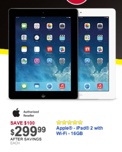 Best Buy iPad 2 Black Friday Deal
