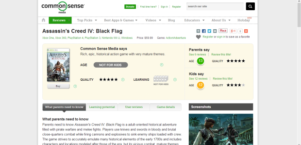 Common Sense Media posts detailed reviews of games written specifically for parents.