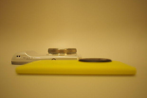The Galaxy S4 Zoom is thicker in footprint than Lumia 1020