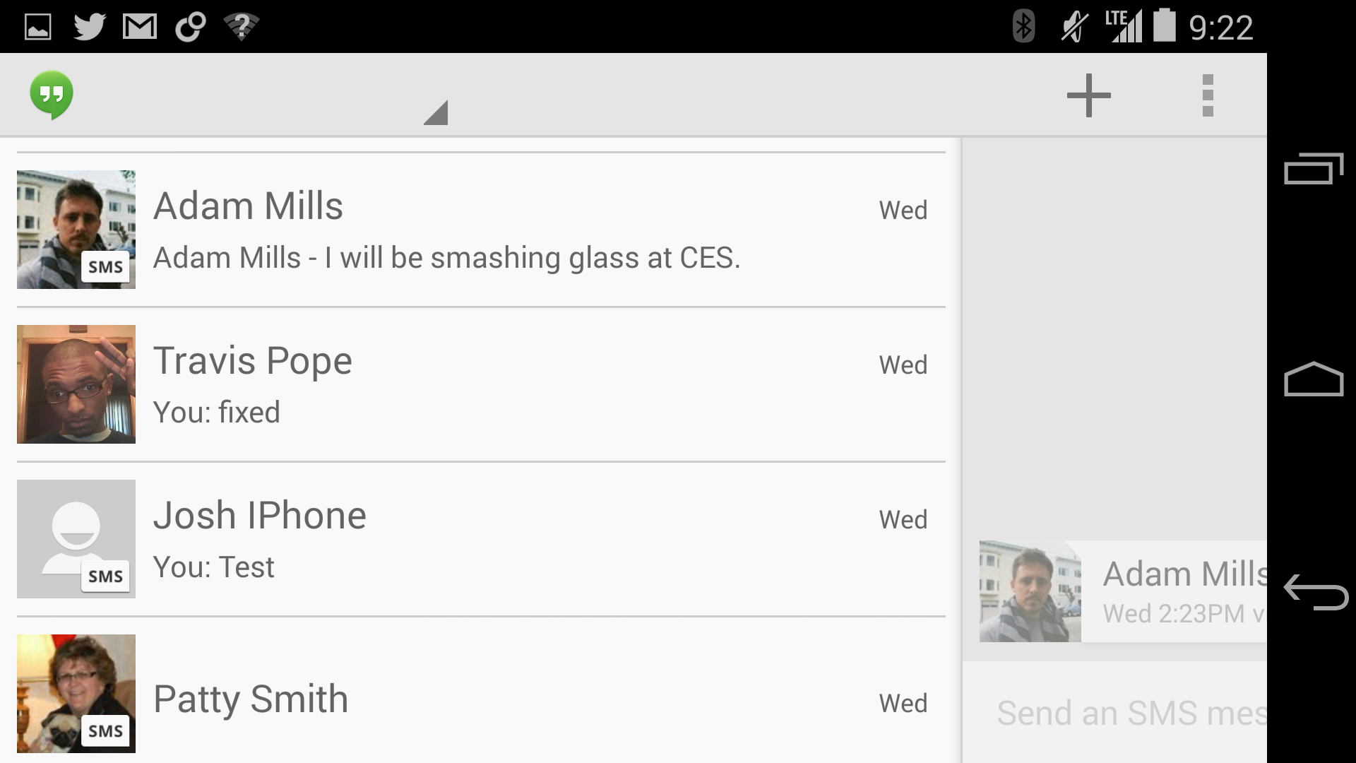 Google Voice and the new Hangouts v2 don't play well together just yet.