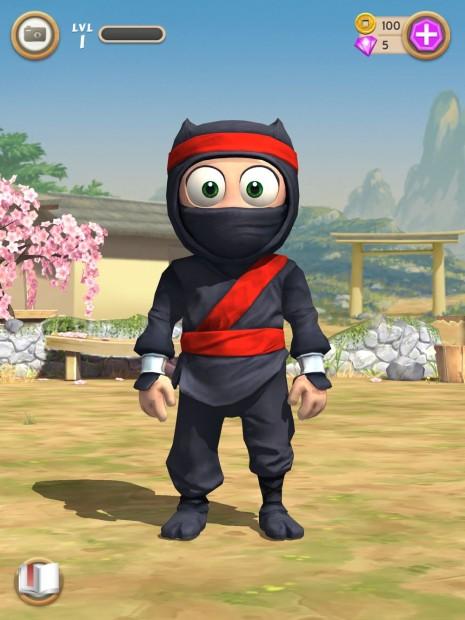 clumsy ninja character