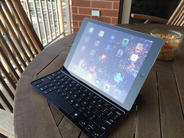 The Logitech Ultrathin Keyboard for the iPad Air