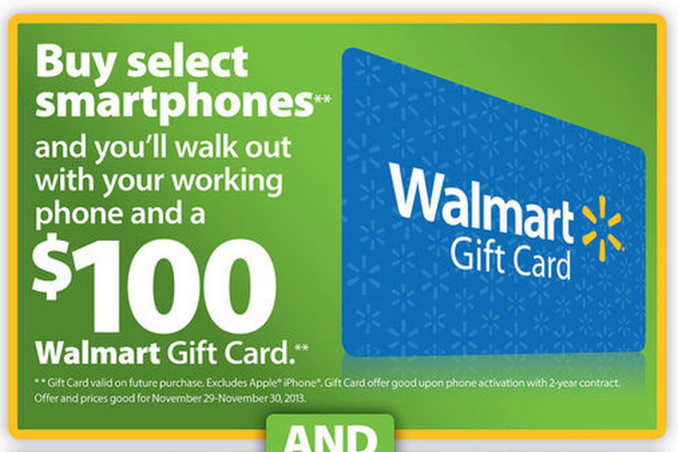 The Walmart Black Friday 2013 ad includes four tempting smartphone deals.