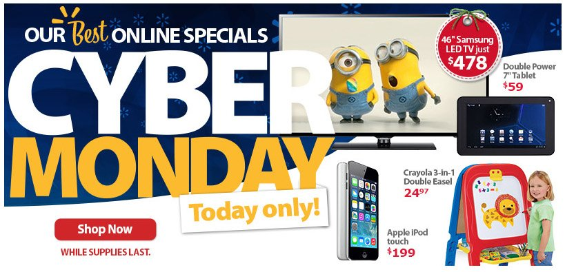 The Walmart Cyber Monday 2013 deals start as early as Saturday, and shoppers can use the app to get earlier access to the big deals.