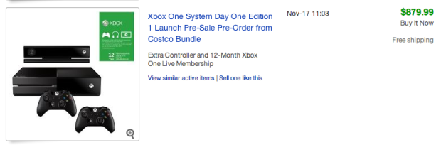 As the Xbox One release date approaches eBay prices climb.