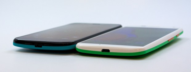 The Moto G is slightly thicker than the Moto X.