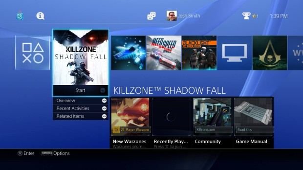 The PS4 interface is simpler than the Xbox One.