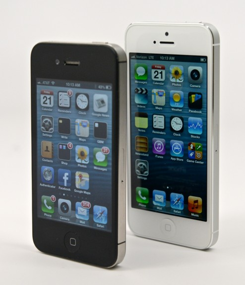 The iPhone 5s and iPhone 5c offer a larger display.