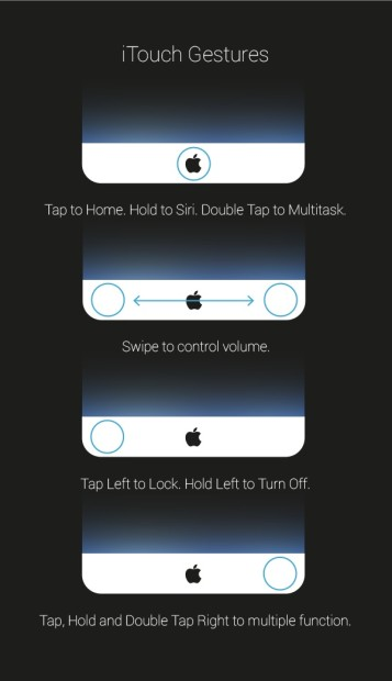 A new home button allows for a smaller bezel and offers touch controls.