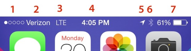 iPhone Symbols iOS 7