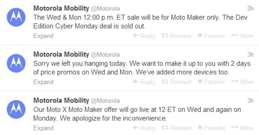 Motorola To Resurrect Moto X Cyber Monday Promo On Wednesday Next Monday