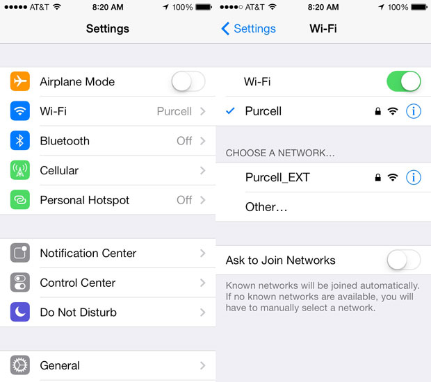 setting up wifi on ios